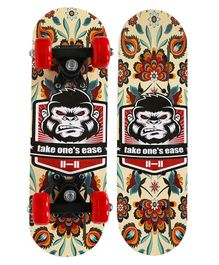 Strauss Kids Skateboard Chimps Print - Multicolor