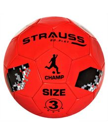 Strauss Size 3 Kids Football - Red