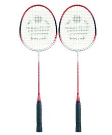 Cosco Badminton Racquet Pack Of 2 - Red & Silver