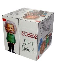 Macaw Scientist Cube Albert Einstein