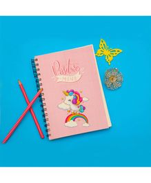 The Story Saga Note Pad Unicorn Print Pink - 80 Pages
