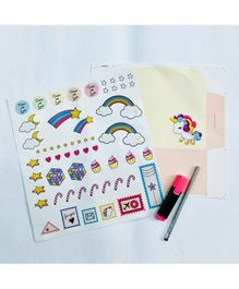 The Story Saga Unicorn Envelope With Sticker - Multicolor