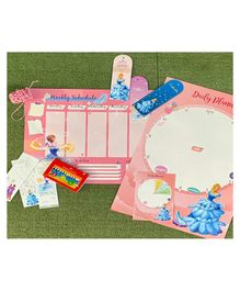 The Story Saga Cinderella Theme Stationary Set Pink Pack of 1 - 32 Pieces