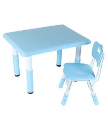 The Tickle Toe Adjustable Table Chair Set - Blue