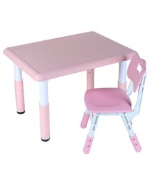 The Tickle Toe Adjustable Table Chair Set - Pink