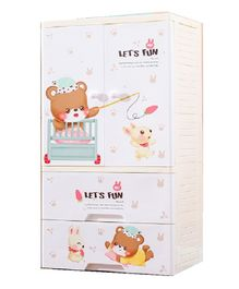 The Tickle Toe Chest of Drawers Teddy Print - Beige