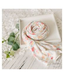Bembika Baby Stretch Wrap Photography Prop - White Pink