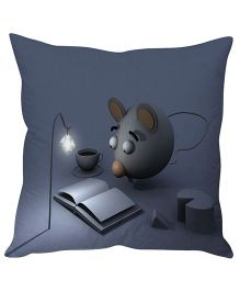 Stybuzz Reading Mouse Cushion Cover - Dark Grey