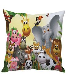 Stybuzz Jungle Book Cushion Cover - Multi Color