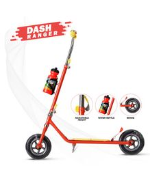 Dash Foldable Heavy Duty Two Wheel Scooter With Water Bottle - Red