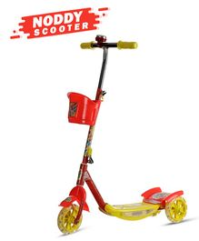 Dash Noddy 3 Wheel Scooter With Storage Basket & Bell - Red