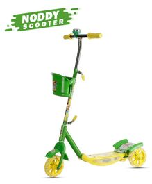 Dash Noddy 3 Wheel Scooter With Storage Basket & Bell - Green
