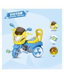 Dash Victor Musical Tricycle With Light & Under Seat Storage Space - Blue