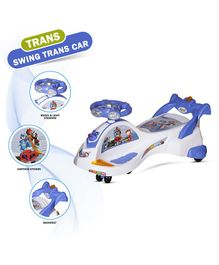 Dash Free Wheel Musical Magic Swing Transformer Car Ride-On - White