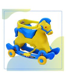 Dash Marshal 2 in 1 Baby Rocker cum Ride On - Yellow Blue