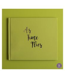 KUWTB As Time Flies Baby Record Book Celery Green - English