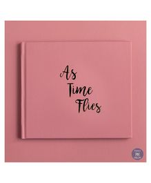 KUWTB As Time Flies Baby Record Book Peony Pink - English