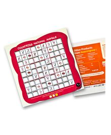 Ilearnngrow Wooden Countries National Animal Sudoku - Multicolour