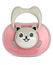 Kassy Pop Silicone Baby Pacifier Kitty Print - Pink
