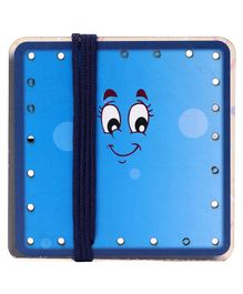 Omocha Wooden Lacing Toy Square Shaped - Blue