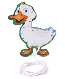 Omocha Lacing Toy Duck Shaped - White