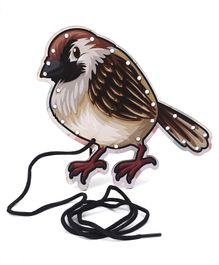 Omocha Lacing Toy Sparrow Shaped - Brown