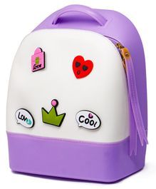 Fiddlerz PU Leather Backpack Purple - 11.4 Inches