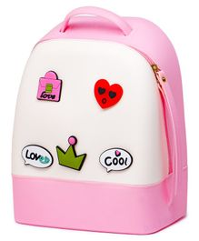 Fiddlerz PU Leather Backpack Pink - 11.4 Inches