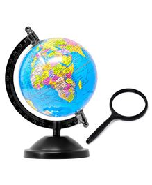 Fiddlerz Educational World Globe With Magnifying Glass Small - Multicolor