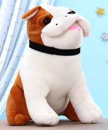 Kids Kaart Bulldog Soft Toy White - Height 22 cm