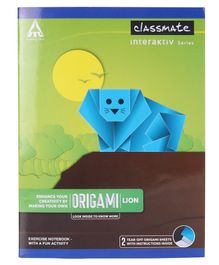 Classmate Origami Notebook Unruled - 172 Pages