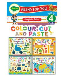 Sawan Colour, Cut And Paste Books Set of 4 - English