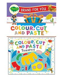 Sawan Transport Colour, Cut And Paste Book - English