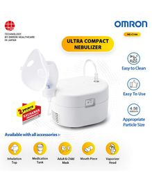 Omron NE C106 Ultra Compact & Low Noise Compressor Nebuliser - White