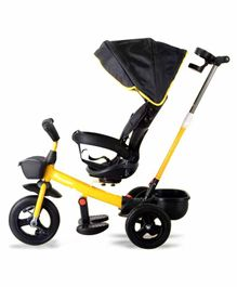 StarAndDaisy Royal Tricycle With Parental Push Handle  - Yellow