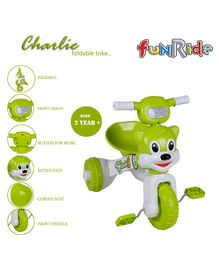 Funride Foldable Tricycle - Green