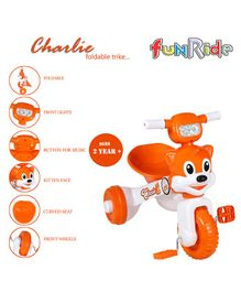 Funride Foldable Tricycle - Orange