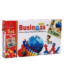 Yash Toys 5 In 1 Business Board Game Deluxe - Multicolor