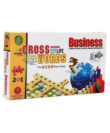 Yash Toys 2 In 1 Business And Crossword Board Game - Multicolor