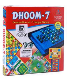 Yash Toys Dhoom 7 In 1 Board Game - Multicolor