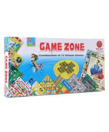Yash Toys 12 In 1 Games Zone Board Game - Multicolor