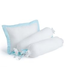 The White Cradle Cot Pillow & Bolsters Set with Fillers - White