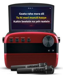 Saregama Carvaan Karaoke Portable Music Player with 5000 Pre-Loaded Songs - Metallic Red