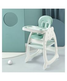 StarAndDaisy High Chair with Adjustable Plate - Green