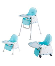 StarAndDaisy 3 in 1 Cushioned High Chair with Child Tray - Blue