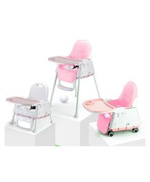 StarAndDaisy 3 in 1 Cushioned High Chair with Child Tray - Pink