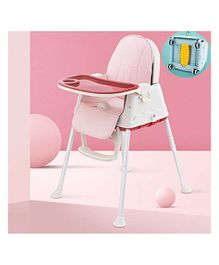 StarAndDaisy 3 in 1 Cushioned High Chair with Child Tray - Dark Pink