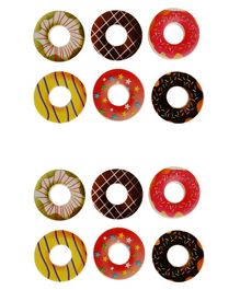 Passion Petals Doughnut Shaped Erasers Pack of 12 - Multicolor
