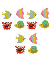 Passion Petals Aquatic Animal Shaped Erasers Pack of 12 - Multicolor