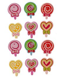 Passion Petals Candy Shaped Erasers Pack of 12 - Multicolor